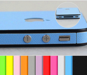 Leather PU Sticker Skin Screen Protector for iPhone 4/4S/5