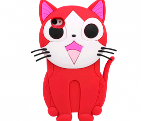 Cute Soft Cat Back SiliconeCase for iPhone 4/4S