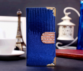 Diamond Striae Leather Cover Card Holder Case for iPhone5 & Samsung GALAXY S4 Note 2 N7100